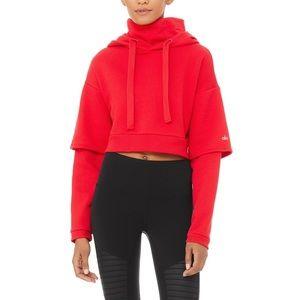Alo Yoga Eternal Hoodie in Red